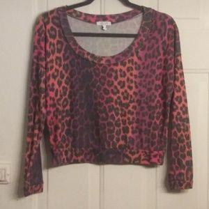 Very cute sweatshirt type crop top